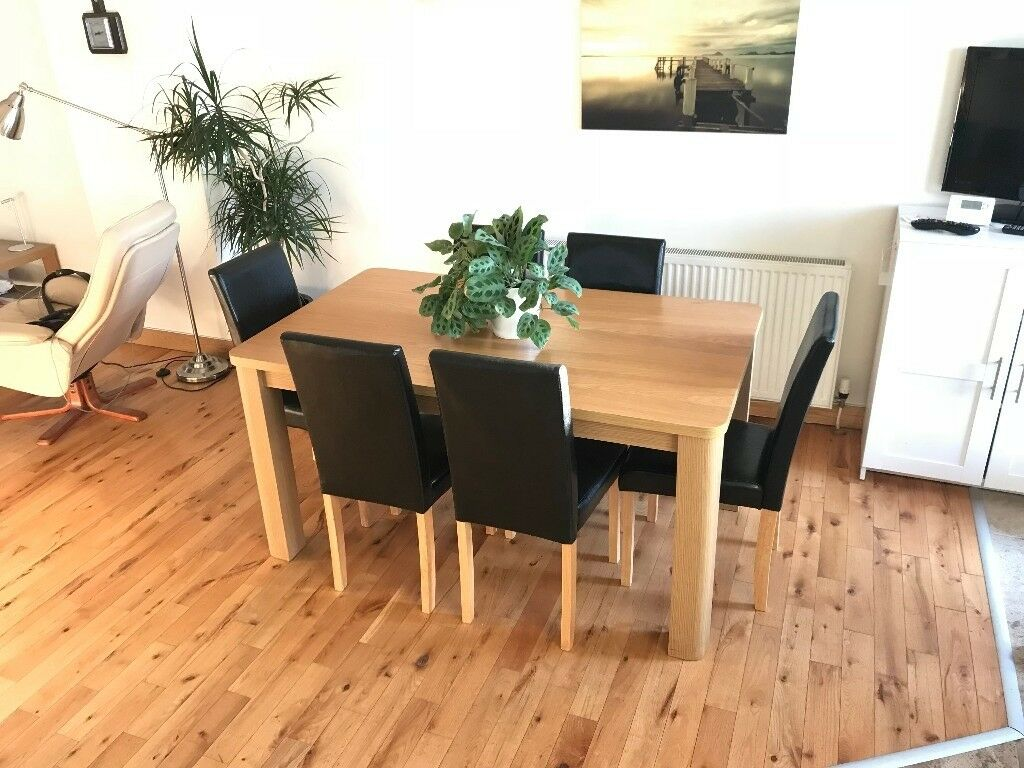 Argos Oak Effect 5 X 3 Dining Table 6 Chairs Very Good Condition In Castlereagh Belfast Gumtree