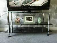 Black tv/audio stand