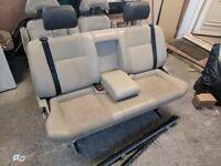 Foldiing Sliding 3 Seat Camper Van Triple Bench VW T4 T5 Transit Vivarro Sprinter etc. Belts Bed
