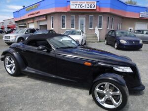 1999 Plymouth Prowler ROADSTER,NOIR,CONVERTIBLE,JAMAIS ACCIDENTE
