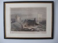 Signed Henry Gastineau St Andrews Colour Lithograph 1851 Print Etching Robert Carrick