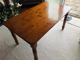 Pine Kitchen Table with 4 Pine chairs