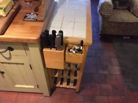 wooden kitchen trolly