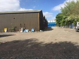 18,000SQ FT LAND – ½ ACRE TO RENT INDUSTRIAL, MANCHETSER STORAGE YARD -BUILDER, TRANSPORT, HAULAGE