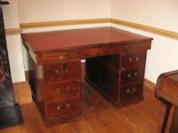 Antique pedestal desk. Large,loads of storage space, Suit home or office. Partners style
