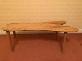 Attractive hand crafted wooden coffee table