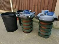2 x Oase filtoclear 11000 koi pond pressure filter