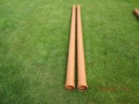 2x Sewer drainage pipes 3m x 110mm