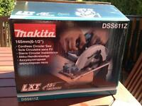 Brand new unused 165mm 18v circular saw body only with makita blade