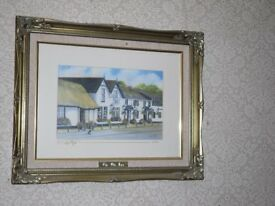 The Old Inn at Crawfordsburn. Beautiful limited edition print.