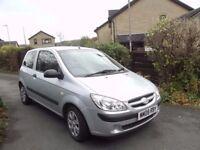 Hyundai Getz 1.1. Silver. 51,000 miles. 10mth MOT, 3 door, aircon, good condition, economical