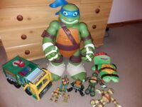 Giant Leonardo play set & Garbage Truck