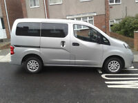 nissan nv 200 7 seats mpv first reg 30/12/2013 with just 15000 miles on it