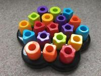 Toddler plastic chunky peg toy