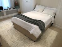 BED - UK Standard Double Divan Bed with 4 x Drawers & Mattress