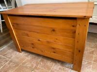 Wooden Chest Trunk Toy Box