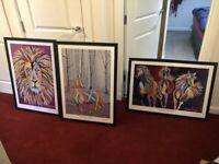 Steven Brown framed prints x 3