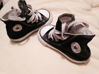 Black high top converse toddler size 4