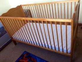 Cotbed With Baby Changing Unit and Under Storage Draw.