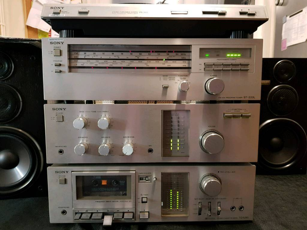 1979 Vintage Full Setup Museum Quality Sony Amp And Fully