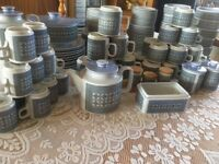 Vintage Blue Hornsea Tableware set