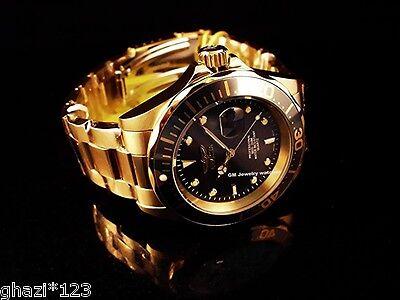 Invicta Men's Pro Diver Quartz18K Gold Plated Stainless Steel Bracelet New Watch