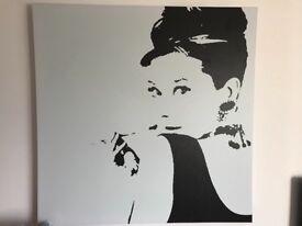 Audrey Hepburn large Ikea canvas picture