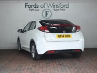 HONDA CIVIC 1.4 I-VTEC S 5DR (white) 2014