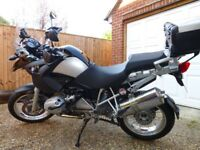 BMW 1200GS, '57 plate, 42,000 miles, 2 owners, BMW luggage, wire wheels, service history
