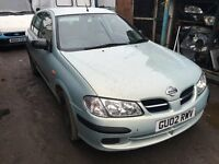 2002 NISSAN ALMERA S (MANUAL PETROL)- FOR PARTS ONLY