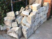 Approximately 1 ton of random York Stone coursing blocks