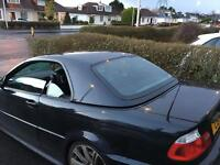 BMW 330ci convertible with HARDTOP *convertible roof not opening* LEDS angel eyes lights