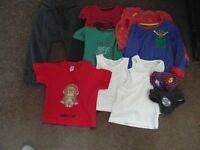 BOYS BARGAIN BUNDLE BABY TODDLER CLOTHES 1.5 TO 4 YEARS - TOPS, JOGGING BOTTOMS