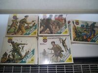 Airfix 00/h0 joblot of soldiers and vehicles all vintage