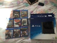PlayStation 4 500gb + controller and games