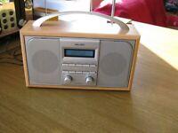 Bush Wooden Retro Style Portable DAB & FM Digital Radio Bargain £20