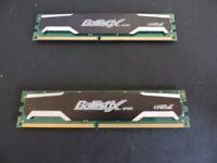 4Gb (2 x 2Gb) Crucial Ballistix Sport DDR2.