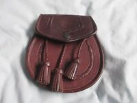 Leather Sporran and belt - other kilt outfit items also available