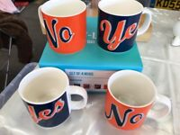 Set of 4 Mugs, never used, boxed
