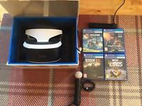 PSVR for sale with games and accessories