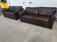Marks & Spencer Abbey leather sofas 3&2 can deliver local 😁👍🏻🚛