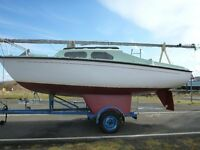 Yacht: Hurley 20ft. Sailing Yacht. Bilge Keel. 4 hp Outboard. Dunbar Harbour