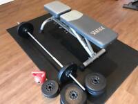 Weight set, Weights Bench and Mat