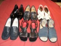 six pairs almost brand new womens shoes Kays, Clarks, M&S. All 5 or 5 1/2