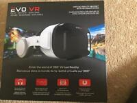 Evo vr goggles with built on headphones