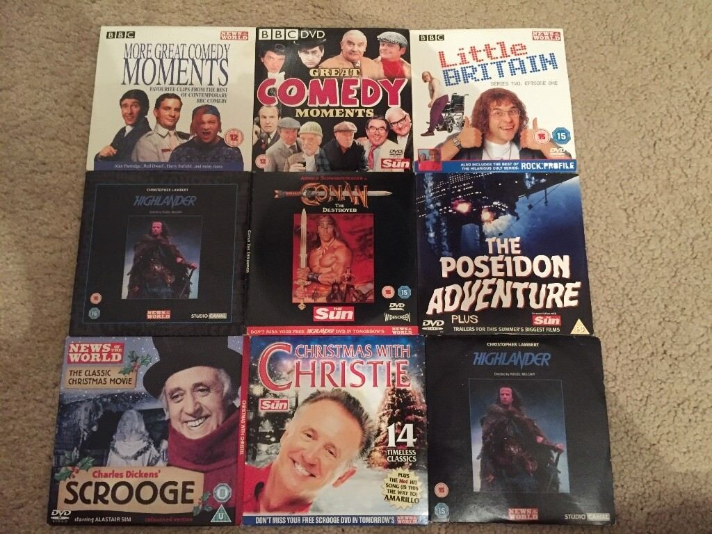 Conan - Highlander - Scrooge - Poseidon Adventure - Plus Various DVDs