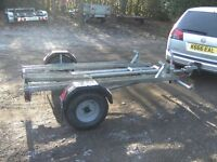 1-2-3 MOTORCYCLE TRANSPORTER CAR TRAILER FULLY GALVANISED WITH RAMP VERY STRONG..
