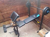 Workout Bench with 35kg Weights