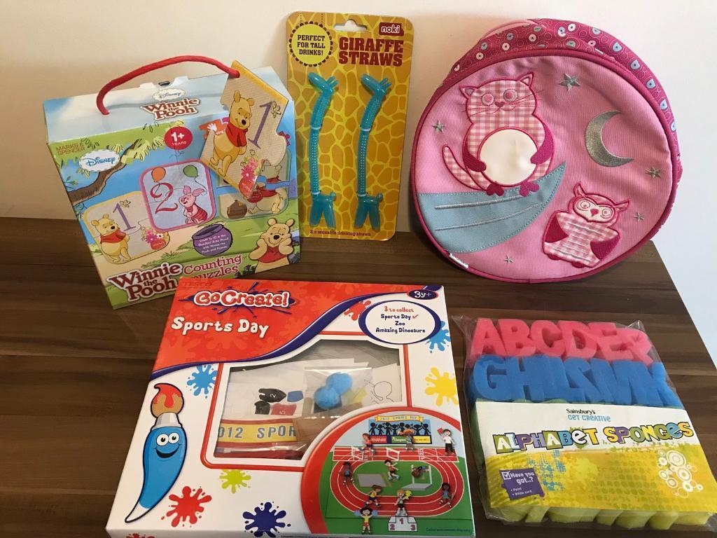 Kids bundle....Disney jigsaw, clarks backpack, crafts...etc NEW