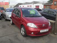 citroen c3 dark red 5 door very good allround cheap insurance e/windows c/locking new mot